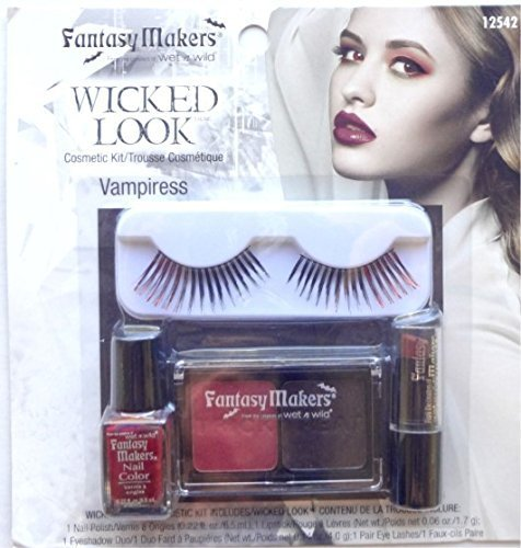 Wet N Wild Vampiress 12542 Femme Fatale Wicked Look Halloween Eyelash Makeup Set Kits (Vampiress) by Wet 'n (Vampiress Makeup)