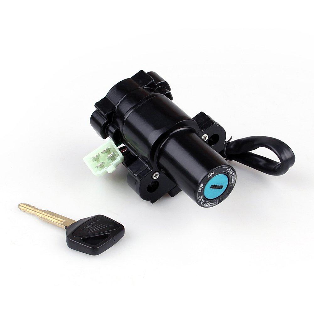 Artudatech chiave di accensione moto interruttore di accensione serratura con set chiave per H-O-N-D-A CBR 400//600//954//1000 VFR VTR1000 CB ST1300