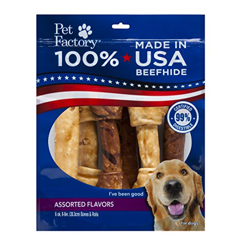 Pet Factory 78256 Made in USA Value Pack Assorted Flavored (Beef & Chicken) 8-9