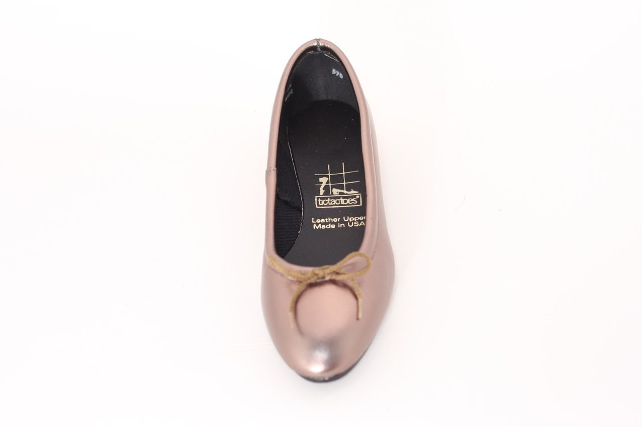 TicTacToes Women's Lisa Leather Ballet Flat-Made in USA, B014I2DOMG 12 B(M) US|Pewter