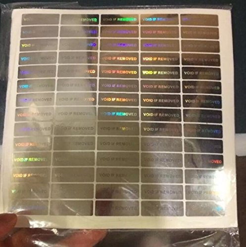 Price comparison product image Security Labels Removed Tamper 100pcs Hologram Void Evident Stickers Signs Warranty