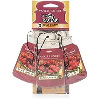 Yankee Candle 1137658E Car Freshener, Car Jar Bonus 3 Pack, Black Cherry