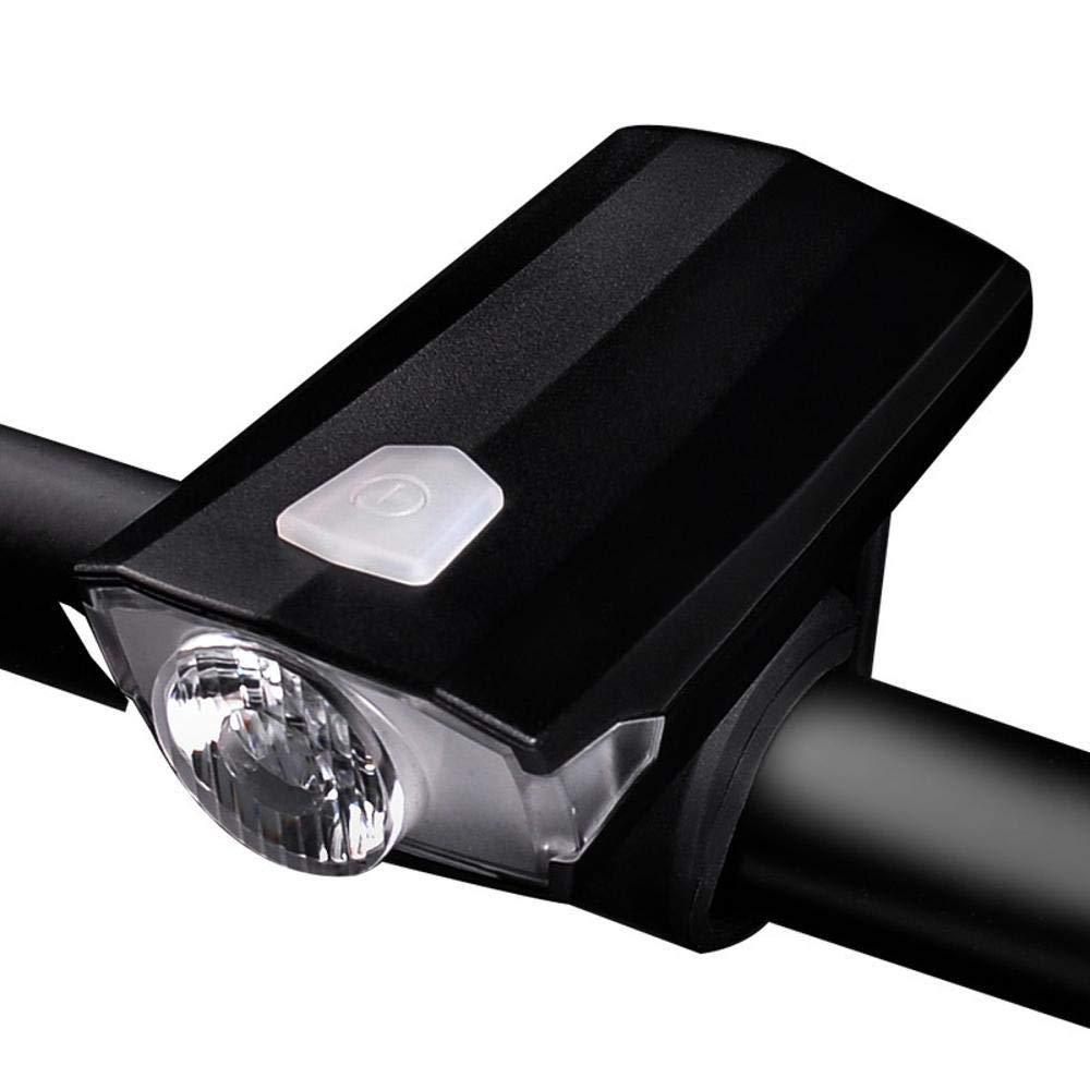 Daeou Luces de Bicicleta Bicicleta Noche Bicicleta Delantera luz USB Carga montaña vehículo Faro Muerto Mosca Advertencia luz del Montar a Caballo Equipo 28 * 44 * 88 m m