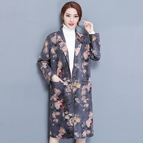 Gaoxu-Frauenkleidung GX Herbst Herbst Herbst und Winter Coat Folk - hochwertige falben Retro - Print - Strickjacke weiten Mantel weiblicher größe B078SMPVZZ Damen Wir haben von unseren Kunden Lob erhalten. 6ce7f6