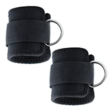 Fvstar Ankle Cuff Straps Adjustable Fitness Neoprene Ankle Support for Leg Butt Weights Exercises - Pack of 2