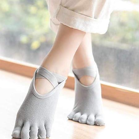 LZ zl Calcetines de Yoga Antideslizantes para Mujer Verano ...