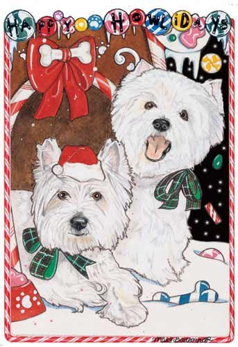 (West Highland Terrier Christmas Cards : 10 Holiday Cards with Envelopes - ADORABLE!)