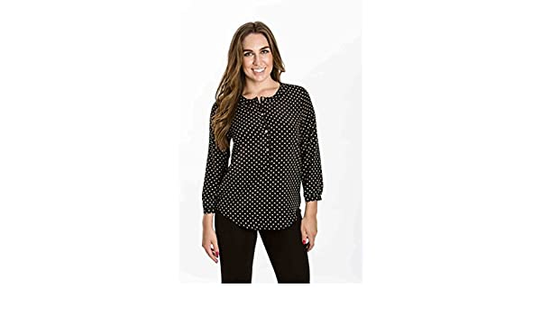 3071e483c1060 Amour Vert Kelly Silk Blouse (Polka Dot) by at Amazon Women s Clothing store