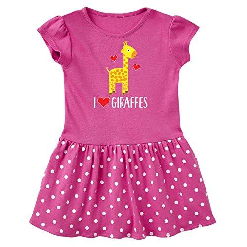Raspberry Giraffe - inktastic - I Love Infant Dress 12 Months Raspberry with Polka Dots 2cffb