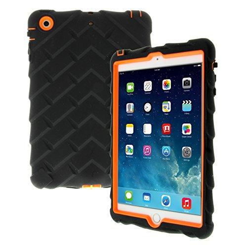 Apple iPad mini iPad mini Retina iPad mini 3 Drop Tech Orange Gumdrop Cases Silicone Rugged Shock Absorbing Protective Dual Layer Cover Case