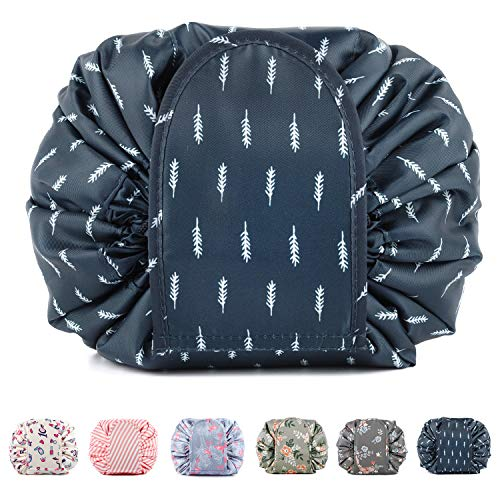 257d188a6897 Portable Lazy Drawstring Makeup Bag Travel Cosmetic Pouch - Import It All