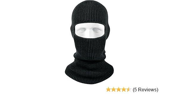 Amazon.com  Army Universe Acrylic One Hole Face Military Ski Mask USA Made  - Black  Clothing 5c761574ff