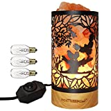 Kimisky Salt Lamp, Himalayan Salt Lamp, Authentic Sea Salt Lamp, New Owl Salt Lamp, Night Light, Real Rubber Wood Base,Large Salt Lamp,Holiday Gift ,ETL-Certified Dimmer Switch,3 Bulbs SP-149 (Owl) Reviews