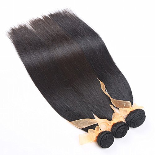 [Curtains made by 100% human hair silky straight black hair simple ladies real hair , 8 inches] (Simple Cheer Dance Costumes)