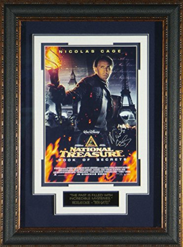 National Treasure - Nicolas Cage Autographed Framed Poster Autographed