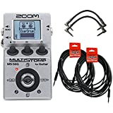 Zoom MS50G MultiStomp Guitar Effects Pedal w/4 Free Cables
