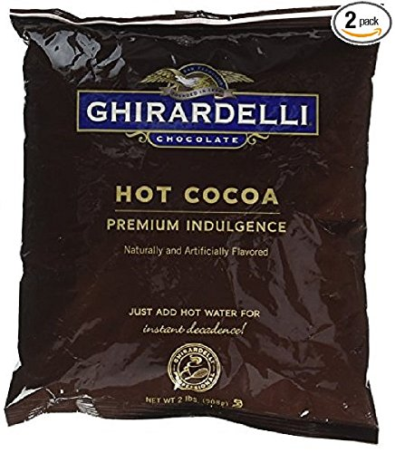 Ghirardelli Chocolate Premium Hot Cocoa Mix, Premium Indulgence, 32-Ounce Packages (Pack of 2)