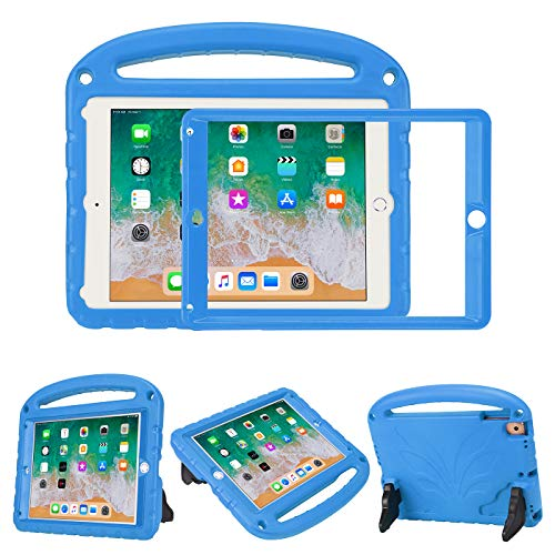 HDE Case for iPad 9.7-inch iPad Air 1 and 2 and 2018/2017 with Built in Screen Protector Shockproof Kids Case