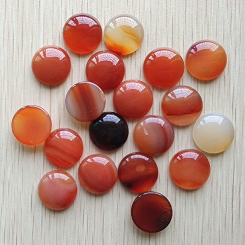 Natural Red Agate Round Cab Cabochon Beads 30Pcs/Lot (Cab Agate)