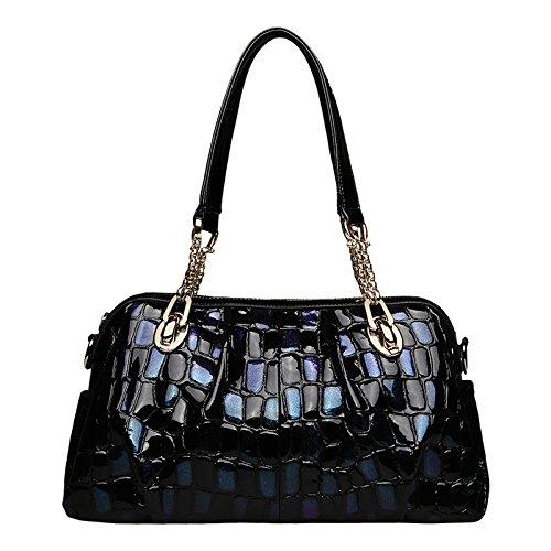 Blue de Sacs bandoulière Sac Pattern cuir de Totes à les poignée à partie en clubs Ladies pour à supérieure sac Crocodile main mariage Grand xnfw7AgH