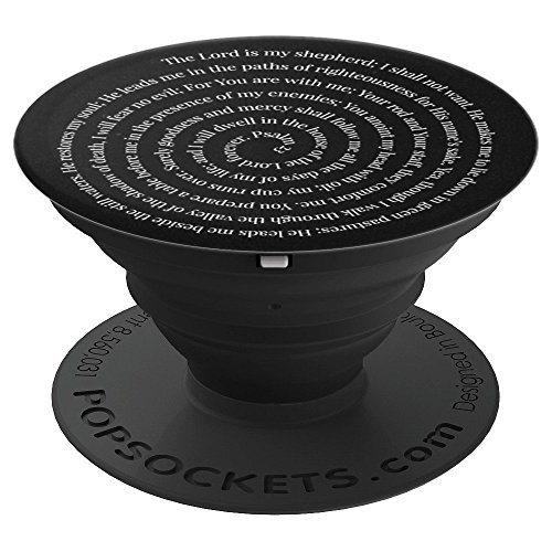 (Psalm 23 Bible Verses PopSockets Grip - PopSockets Grip and Stand for Phones and Tablets)
