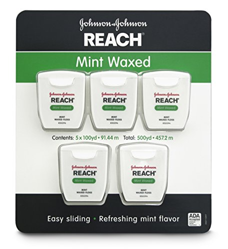 - Johnson & Johnson Reach Mint Waxed Dental Floss, 5 Count