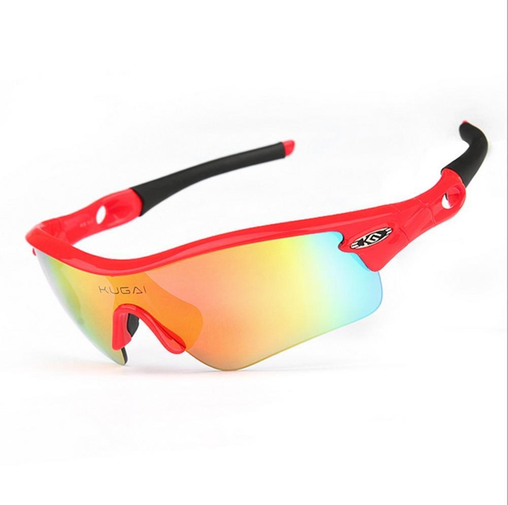 DZW Reiten Brille polarisiert Myopie Männer und Frauen Outdoor Brille winddicht Sportgeräte Brille Fahrrad Brille , ROT