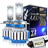 RCP H4 HB2 9003 LED Headlight CREE Bulbs Conversion Kits with Canbus, 80W 7200Lm 6000K White