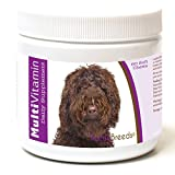 Healthy Breeds Dog One A Day Vitamin Soft Chews For Labradoodle, Dark Brown- Over 200 Breeds - For Small Medium & Large Breeds - Easier Than Liquid Or Powders - 60 Chews