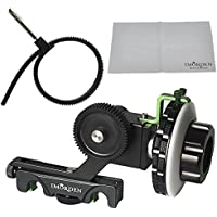 IMORDEN F4 A&B Stop Rapid Precise Follow Focus with Adjustable Gear Ring Belt for DSLR Cameras, Nikon, Canon, Sony DV/Camcorder/Film/Video Cameras lens, Shoulder Support Rigs, Fits 15mm Rod Mount