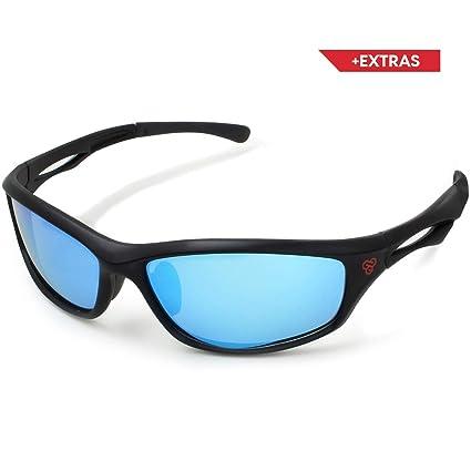 2e65de5aa2 NeoCarbon Lentes de Sol Deportivos Polarizados con Protección UV para  Hombre y Mujer. Incluye Estuche
