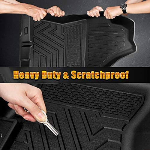 SUPAREE Floor Mats Fits for Subaru Crosstrek 2018 2019 2020 /& Impreza 2017-2020 All Weather Guard 1st and 2nd Row Liners