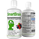 Cheap Smart Brain – Liquid Nootropic Brain–Supporting Supplement to Help with Memory and Keeping Alert, with Ginkgo Biloba, Huperzine-A, Alpha Lipoic Acid, DMAE, Rhodiola Rosea. 32 Fl Oz