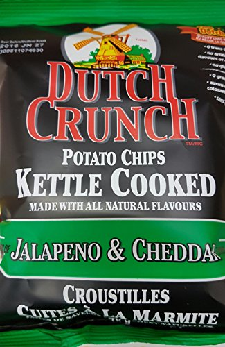 Old Dutch Dutch Crunch Jalapeno & Cheddar 40g/1.411oz Potato Chips {Imported from (Old Dutch Foods)