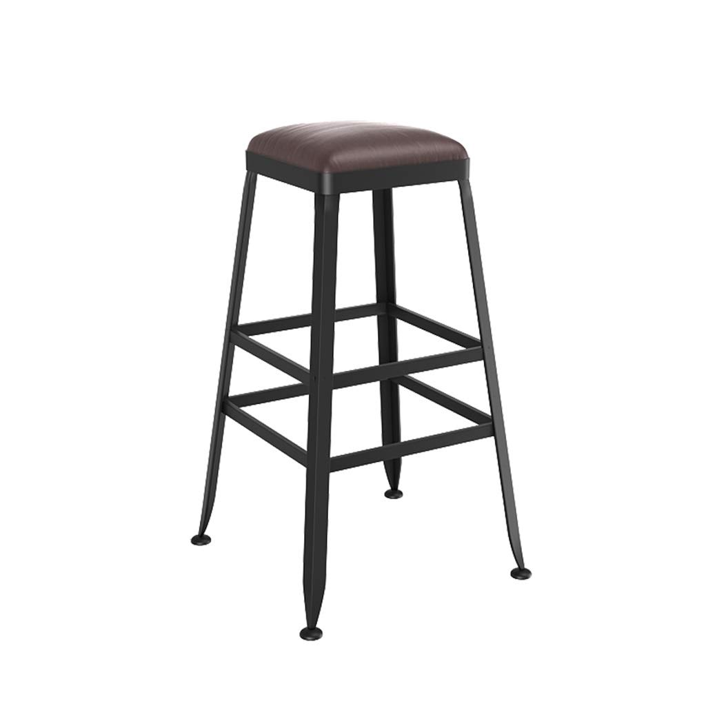 65CM FFLSDR Vintage Style Wrought Iron Bar Stool Bar Stool Can Be Used for Kitchen Restaurant Counter Bar Chair (Size   80cm)