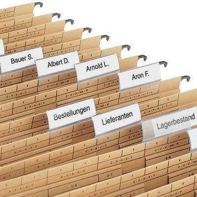 Elba vertic ULTIMATE 250 Etichette per cartelle a sospensione laterale %2F58 40 x 40% 2FCardboard %2FDots 18 mm, colore neutro 100421072/0