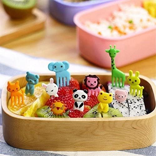 nabati 10 pcs Bento kawaii Tier Food Fruit Picks Gabeln Lunchbox Zubehör Decor Werkzeug