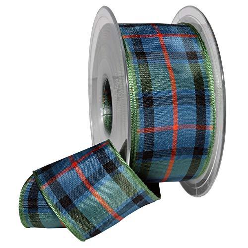 Scotland Tartan Ribbon - Morex Ribbon 975 Edinburgh Ribbon, 1.5 inches by 27 Yards, Flower of Scotland