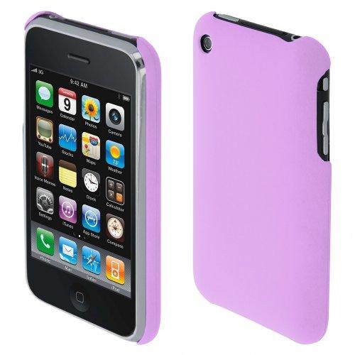 handy-point Hardcase COBI gummierter Kunststoff Kunststoffhülle Hülle Schale Schutzhülle Handyhülle Handyschale cover Kunststoffschale für iPhone 3, 3G, 3GS, Lila