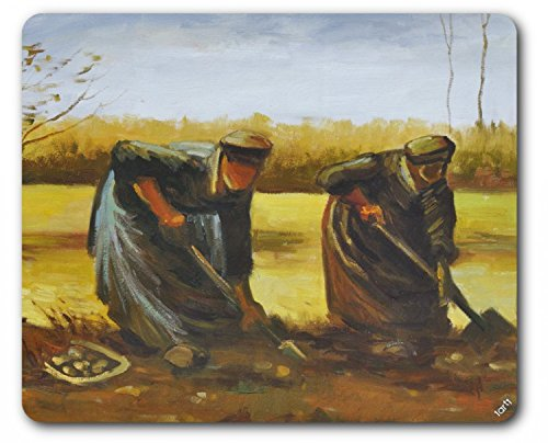 Vincent Van Gogh Mouse Pad - Two Peasant Women Digging Potatoes, 1885 (9 x 7 inches)