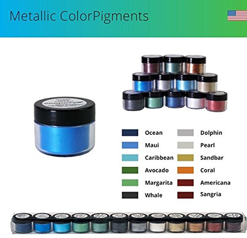 ECOPOXY Metallic Color PIGMENTS 15 Gram X 14 Variety All Colors
