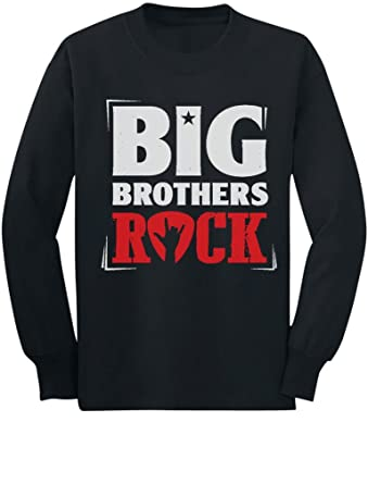 ce01bb146f46 Amazon.com: Boys Big Brothers Rock Best Siblings Gift Youth Kids ...