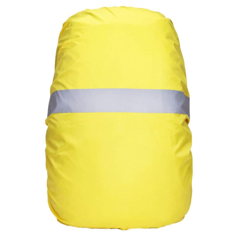 A&I AiLike バックパック レインカバー 反射ストリップ付き 防水 防雨 防塵 ハイキング キャンプ 登山 旅行 アウトドア B07G68V781 イエロー Large - 60L