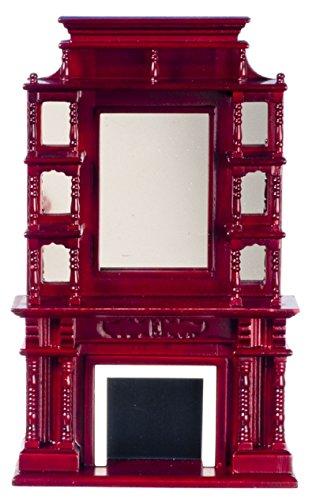 Dollhouse Miniature 1:12 Scale Mahogany Victorian Fireplace #D0036