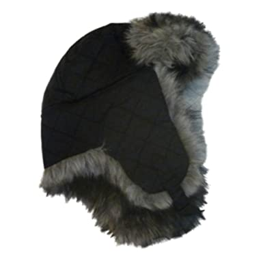 Image Unavailable. Image not available for. Color  Envision Studio Womens  Quilted Black Trapper Hat ... fef87e8f13d