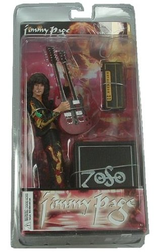Led Zeppelin Collectors Memorabilia: 2006 NECA Jimmy Page Figure with Guitar & Amp