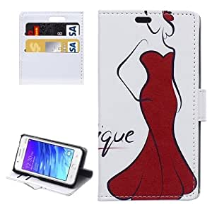 Sexy Girl Pattern Horizontal Flip Magnetic Buckle Leather Case with Card Slots & Wallet & Holder for Samsung Z1 / Z130