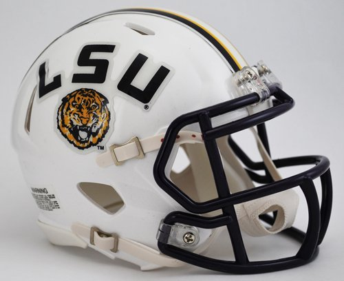 (NCAA Louisiana State (LSU) Fighting Tigers White Speed Mini Helmet)