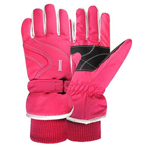 60 Gloves (Igloos Girls C40 Thinsulate Insulation Taslon Ski Gloves, Magenta/Powder, Medium/Large/60cm)