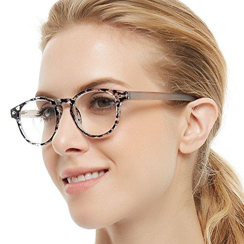 OCCI CHIARI Lightweight Designer Acetate frame Stylish Reading Glasses For Women (15006-Black, 0.0) (Twenty Two Light Glass)